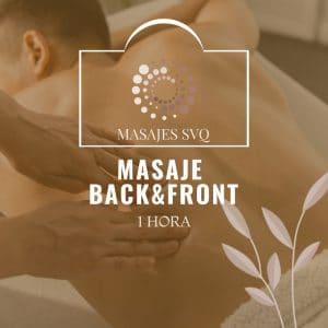 masaje back & front