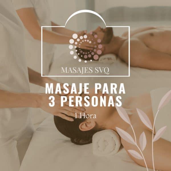 masaje para 3 personas. Regalo de masaje