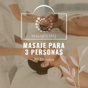 masaje para 3 personas
