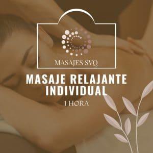 masaje relajante 1 hora