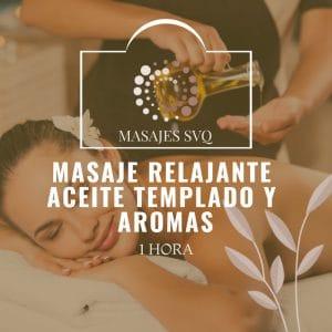 masaje relajante aceite templado y aromas