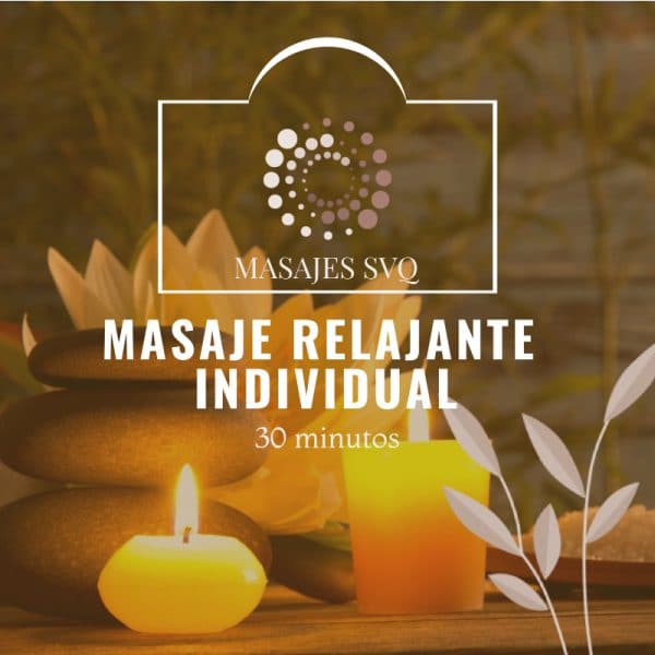 masaje relajante individual 30 minutos